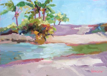 Lagoon at Dubois  Oil on Panel