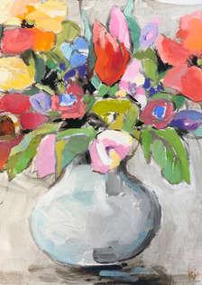 Pop Floral #1.  10x10