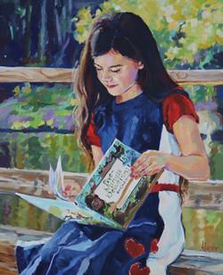 """""""Anna's Secret"""" 20x16. oil on linen."""
