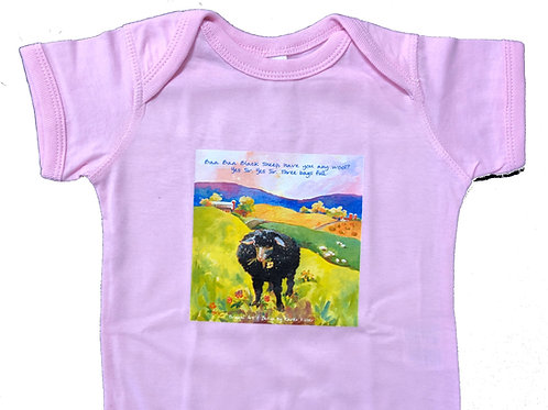 Onesie! Baa Baa Black Sheep Design