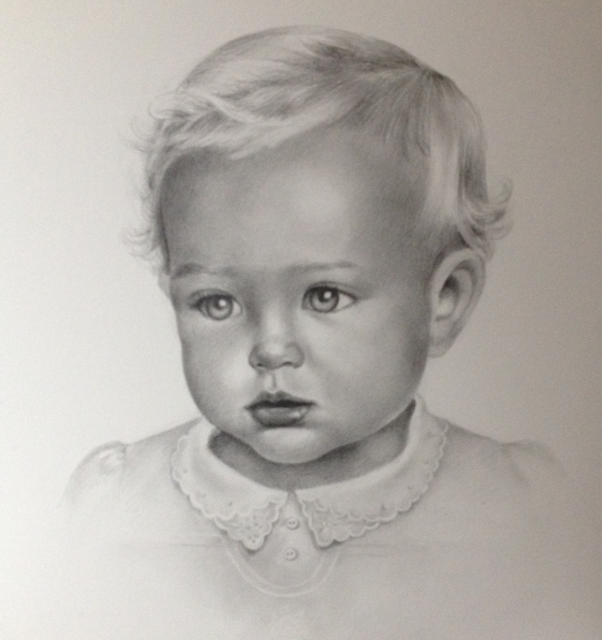 Baby Portrait - graphite drawing