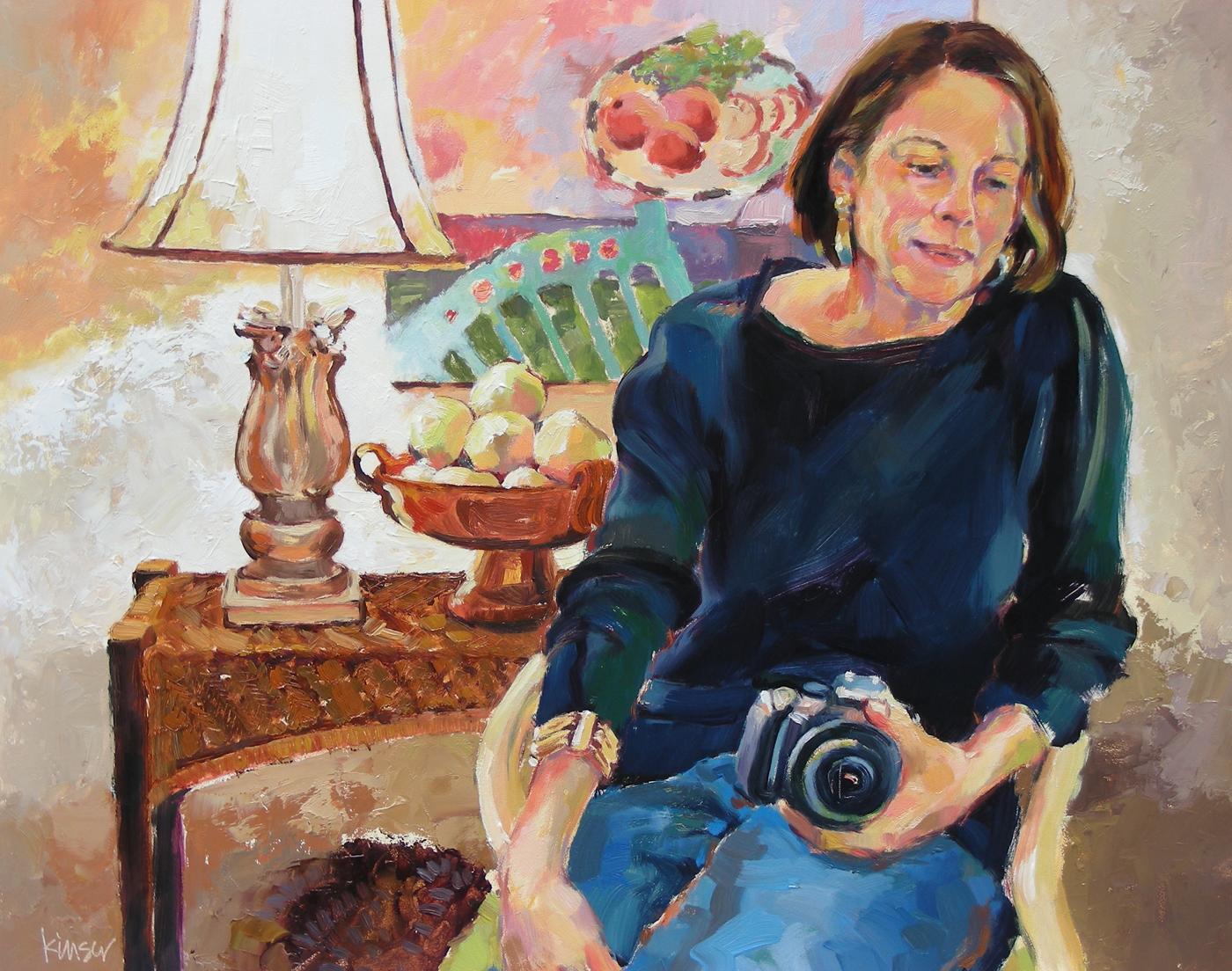 Virginia in Georgia. Oil Portrait.