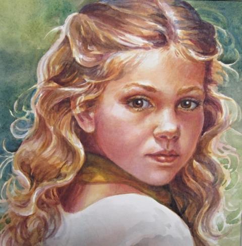 Full Face Portrait of Child