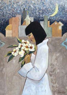 'Dystopian Night' or 'Woman in White'