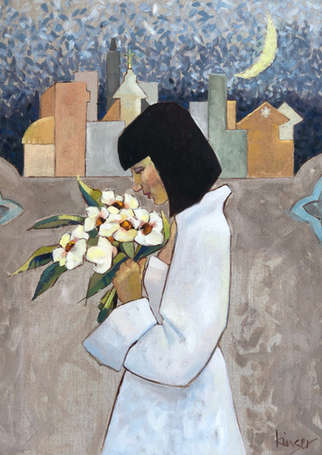 'Dystopian Night' or 'Woman in White'
