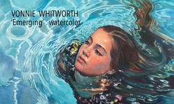 VONNIE WHITWORTH . 'Emerging' . watercolor