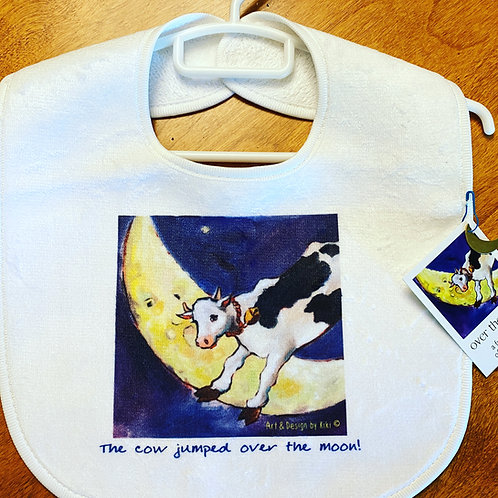 Cow & Moon Bib