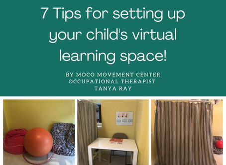 7 Tips for setting up your child's virtual learning space!