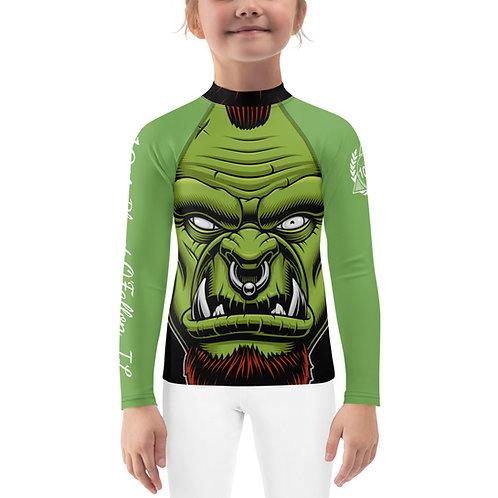 Kids 10P O'Fallon Green Orc Rash Guard