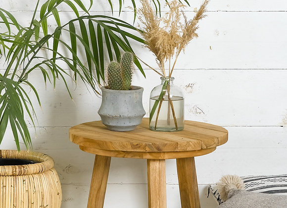 שולחן עץ עגול קטן The Old Box