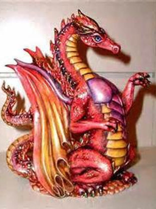 Ceramic Doc Holliday Fire Dragon