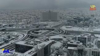 """Κακοκαιρία """"Μήδεια"""": Οδοιπορικό στη χιονισμένη Αττική - Εντυπωσιακό ΒΙΝΤΕΟ από drone"""