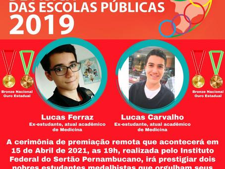 ETE Arcoverde participa da premiação dos seus ex-estudantes na OBFEP