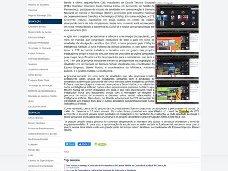 Resultados da SNCT 2020 - Gincana Virtual