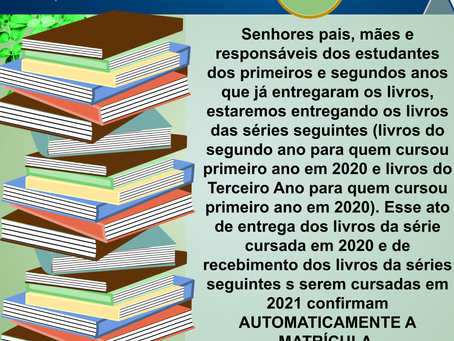 Sobre a entrega dos Livros
