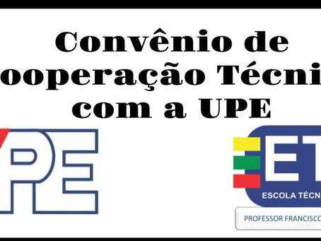 CONVÊNIO DE COOPERAÇÃO TÉCNICA COM A UPE