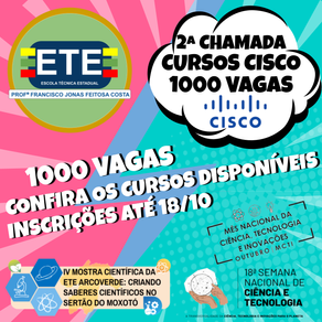 2ª CHAMADA DE CURSOS CISCO