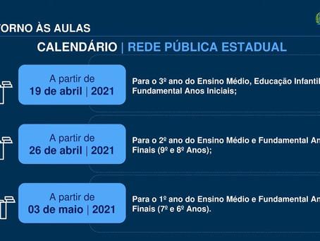 Se liga nas datas de retorno as aulas presenciais, já divulgadas nas mídias sociais da ETE.