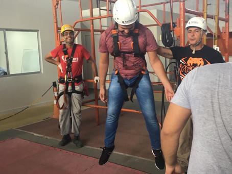 Visita Técnica das turmas de Segurança do Trabalho na empresa Rangers SMS em Recife