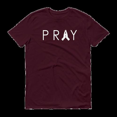 Pray Tee | Maroon