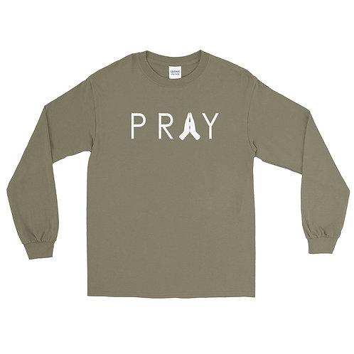 Pray Long Sleeve Shirt   Olive Green