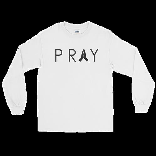 Pray Long Sleeve Shirt | White