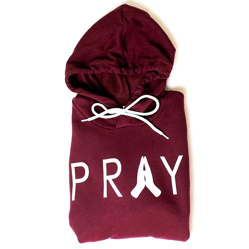 Pray Hoodie | Maroon