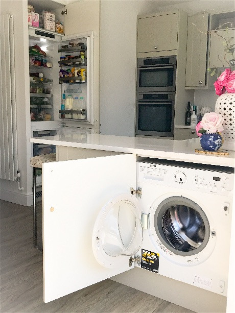 By having a combi micro oven fitted above our main oven in a tall housing  unit at the side instead of having the oven underneath the hob we didn't  have to ...