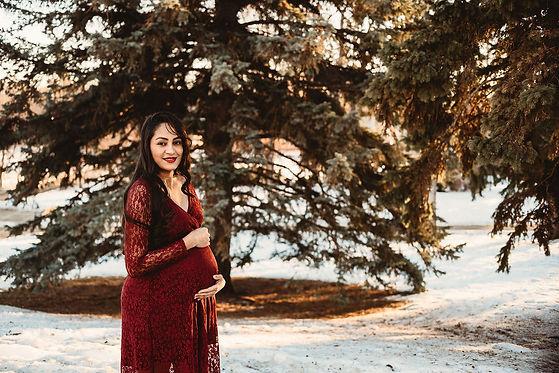Maternity in snow