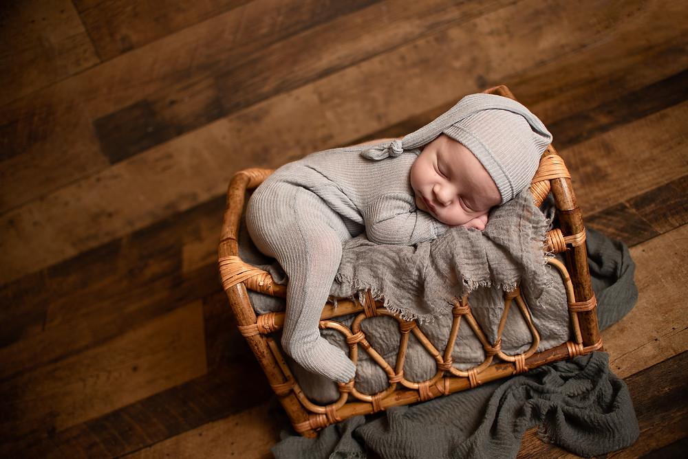 newborn in bed picture