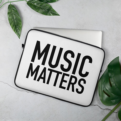'Music Matters' Laptop Sleeve