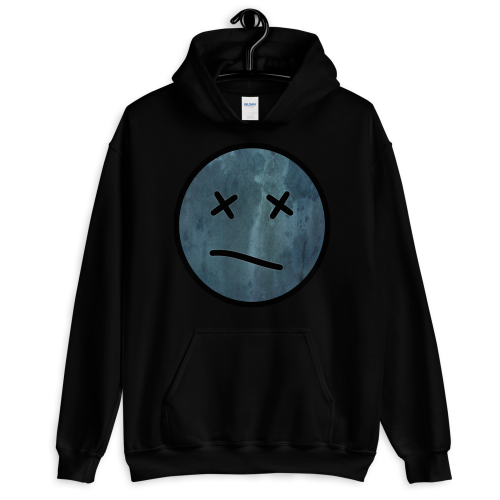 Meh face design called Sketch on a women's hoodie