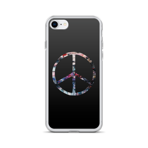 Colourful peace symbol on a iphone case