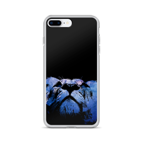 Illustration of a young lion made of stars on a iphone case
