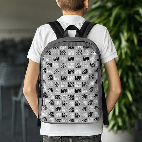 'Louder' Backpack (Grey)