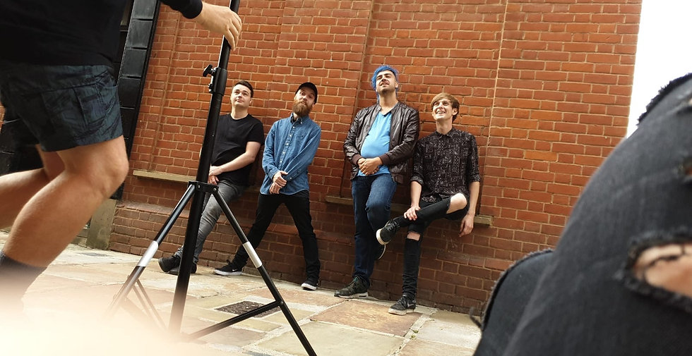 Fairway band behind the scenes at Marcus Maschwitz photo shoot