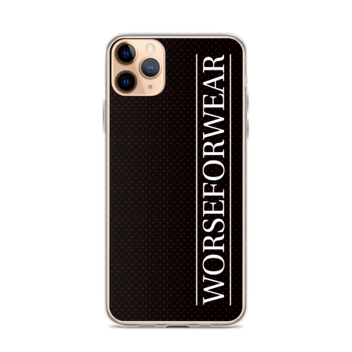 Red star style dots on a black iphone case