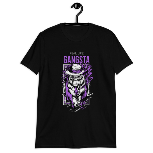 Real life gangster illustration of monkey mafia men's t-shirt