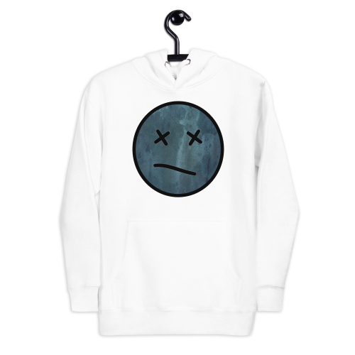 Meh face design called Sketch on a men's hoodie
