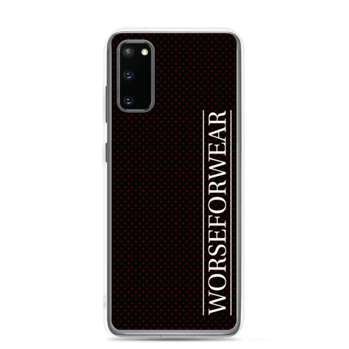 Red star style dots on a black samsung phone case