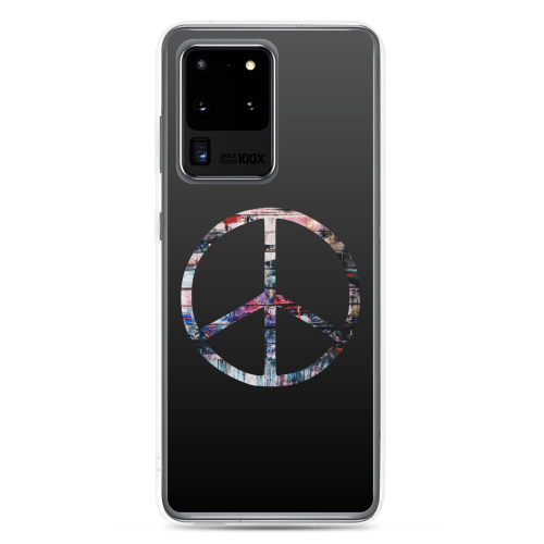 Colourful peace symbol on a samsung phone case