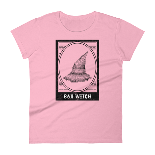 Bad witch hat design on women's top