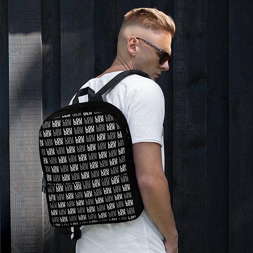 'Louder' Backpack (Black)