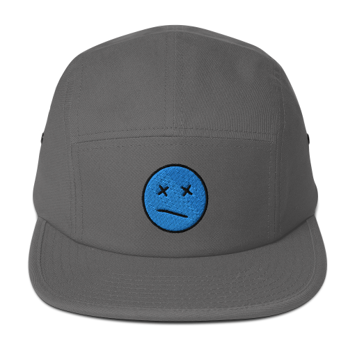 Meh face design called Sketch on a five panel cap