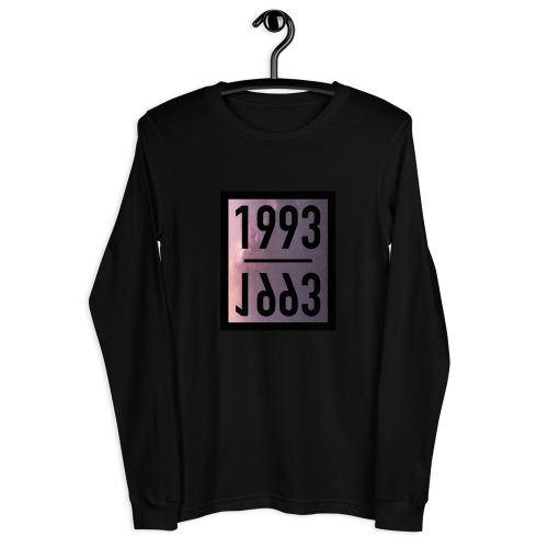Representing the year 1993 on a women's long sleeve coloured top