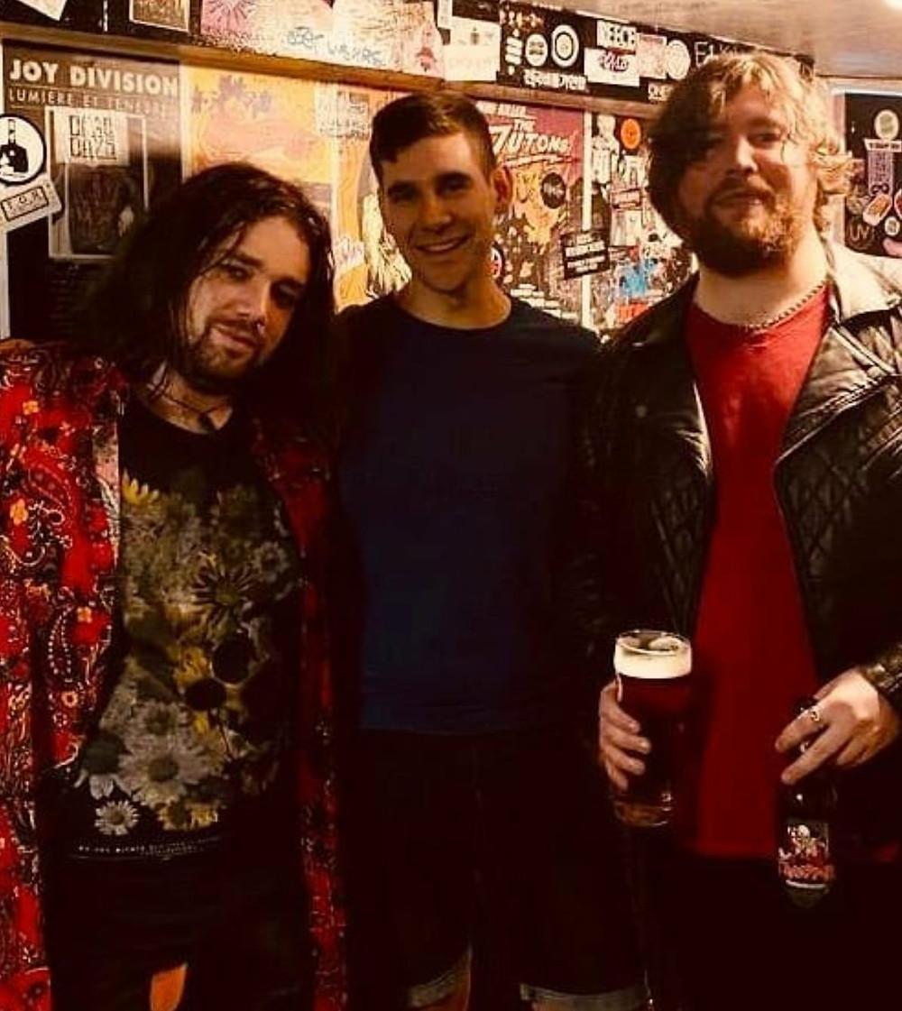 Backstage photo of London based Indie Rock band Animal Breakdown