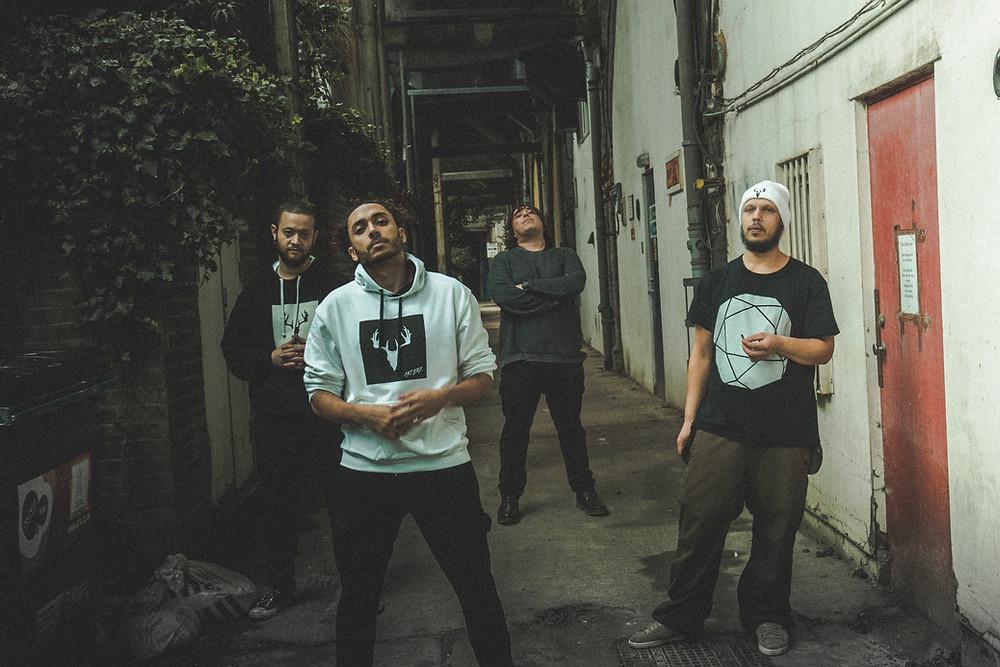 Photo of London Based Rap Metal Band Antlerz by George Pitt