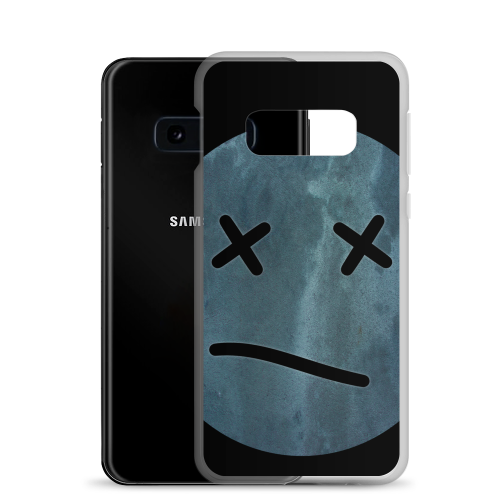 Meh face design called Sketch on a samsung phone case