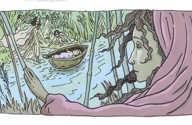 מרים שומרת על משה בתיבה