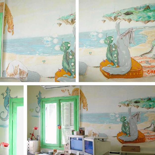 ציור קיר במשרדי מיזו